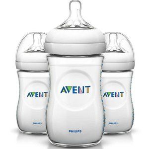 Philips Avent Natural Baby Bottles, Clear, 9 oz